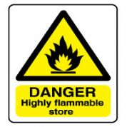 Warn153 - Danger Flammable